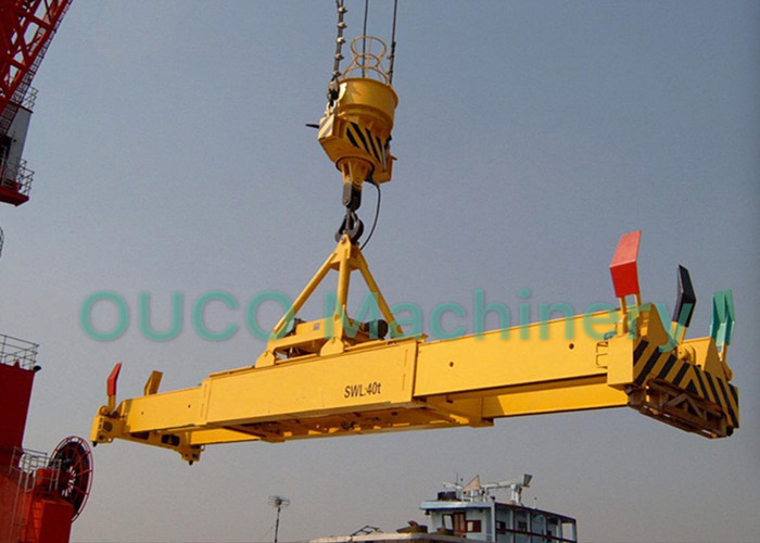 High Stability Container Lifting Spreader For Single / Double Hook Jib Cranes