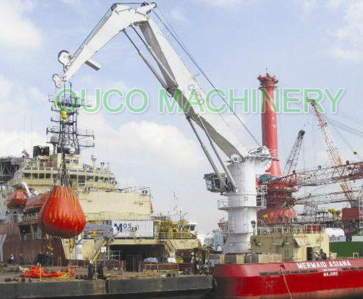 5 Ton Knuckle Boom Jib Crane High Reliability For Loading Cargoes Application