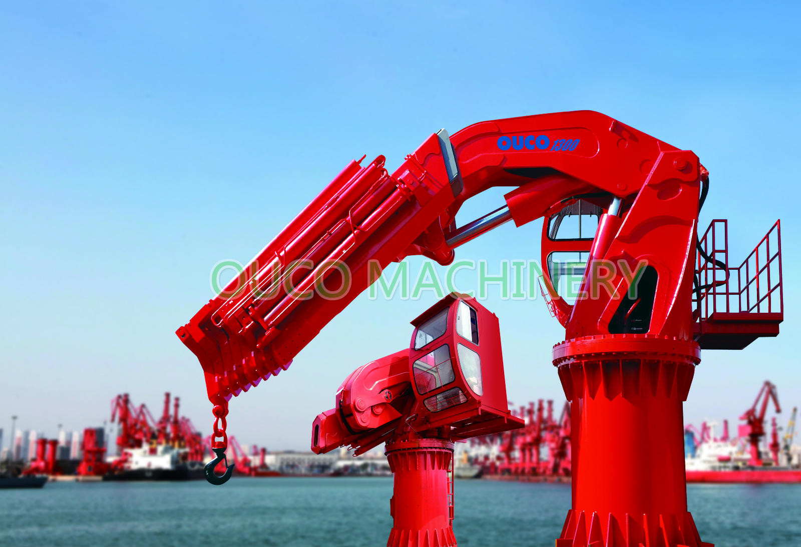 15m/Min Hydraulic Lifting Cargoes Articulating Boom Crane